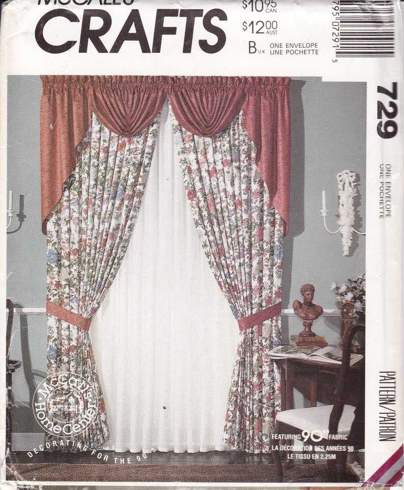 Sewing Pattern For Window Treatments Using 90 Fabric. image 0