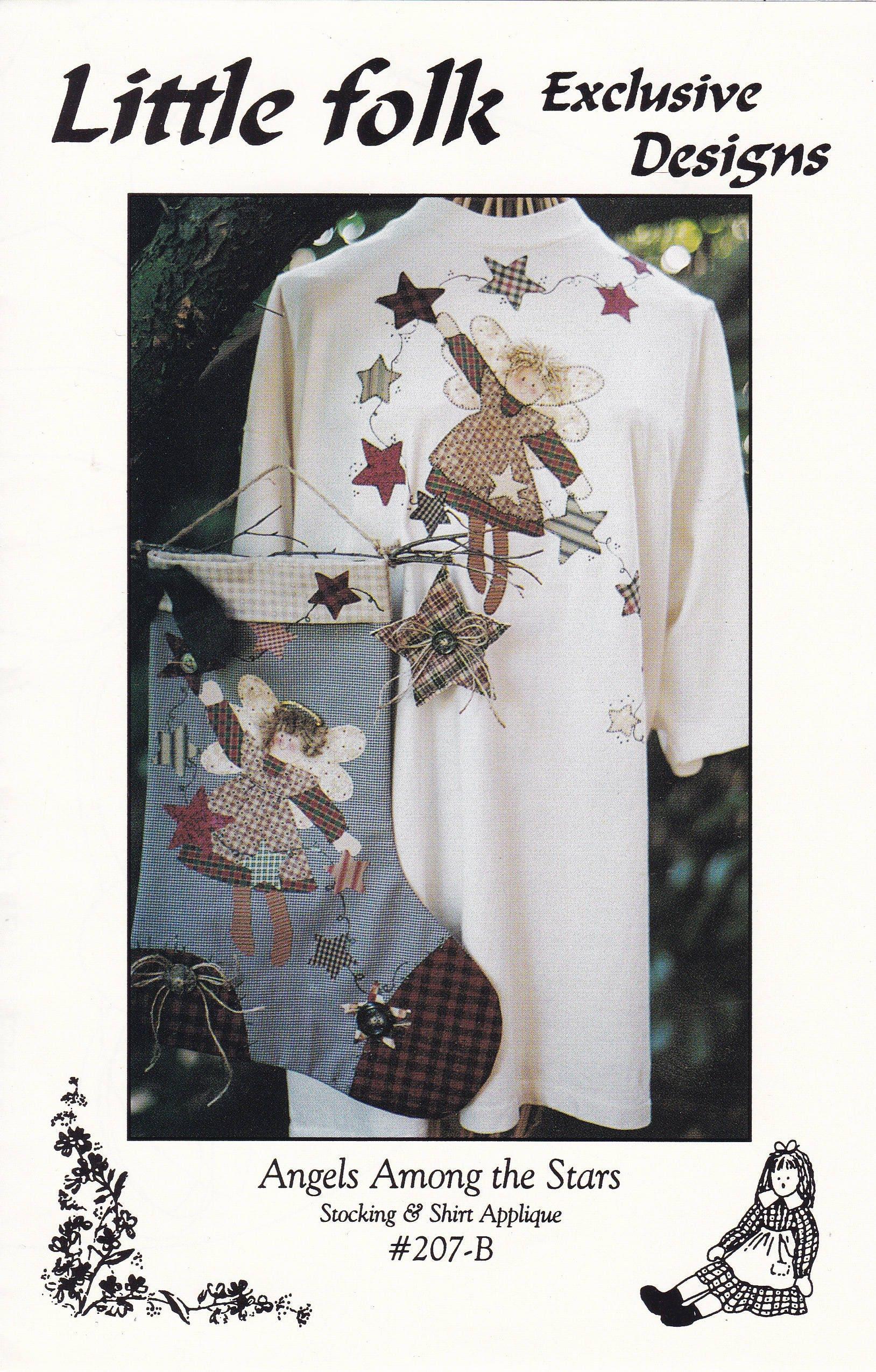 FREE US SHIP Craft Sewing Pattern Christmas Little Folk Designs ...