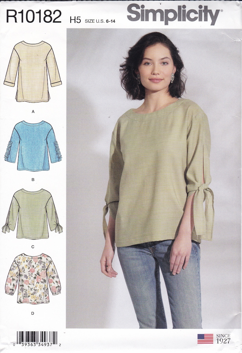 Sewing Pattern To Make Misses Top Casual Drop Shoulder Easy image 0