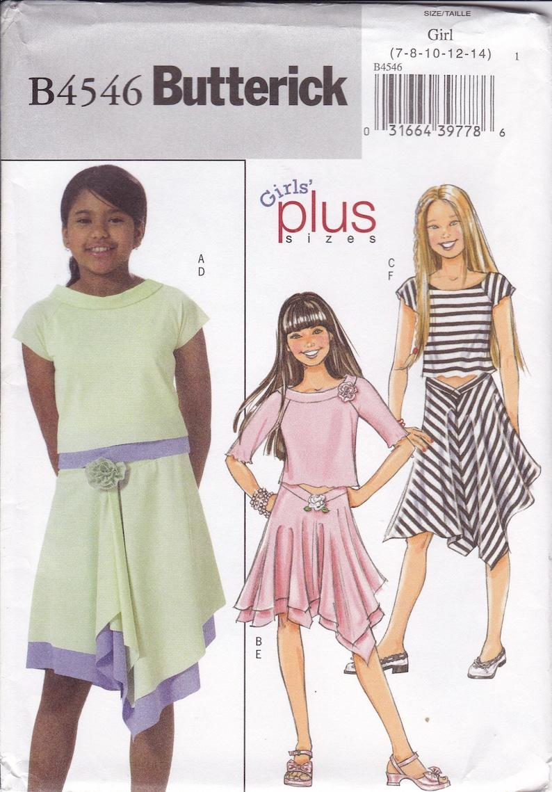 SEWING PATTERN MAKE GIRLS SUMMER TOP~DRESS~SHORTS~PANTS 7~14 OR PLUS 10.5-16.5