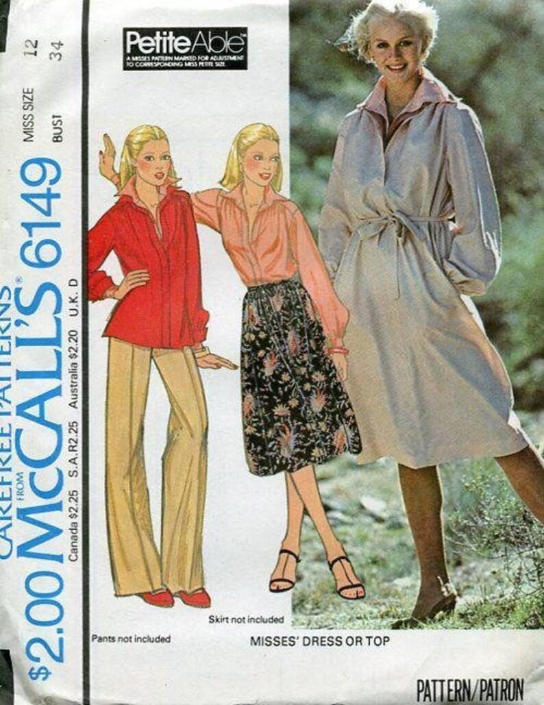 Sewing Pattern McCall's 6149 Retro 1970's Dress Tunic image 0