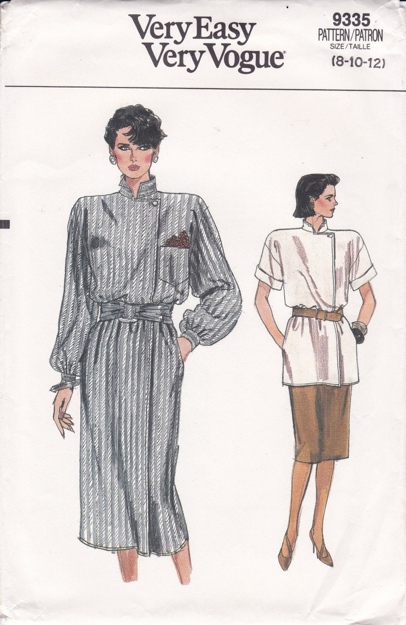 Sewing Pattern Vogue 9335 Vintage Retro 1980s 80s Wide image 0