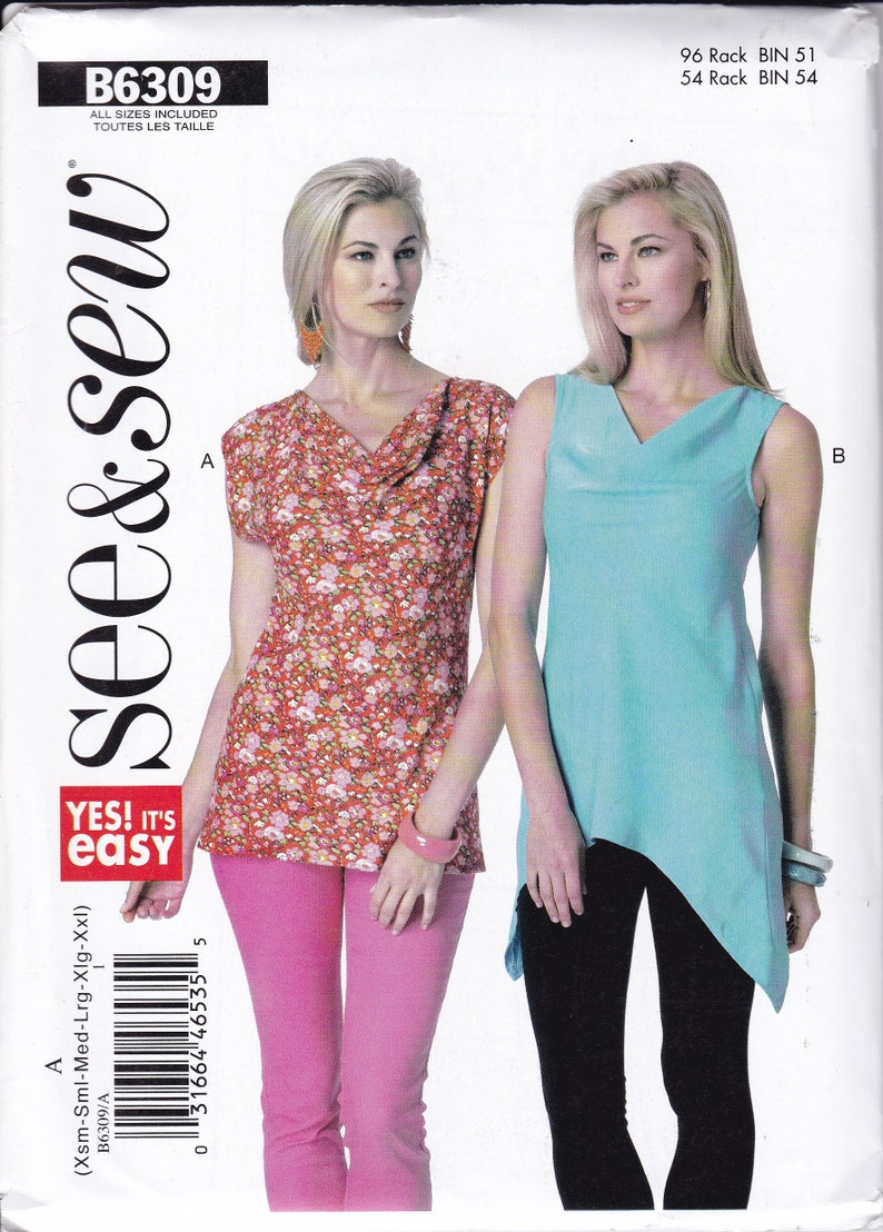 New Sewing Pattern Free Us Ship  Butterick 6309 Easy See & Sew image 0