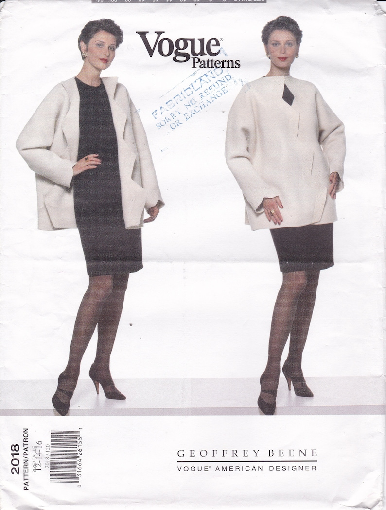 Sewing Pattern for Misses Dress Jacket Vogue Pattern  2018 image 0