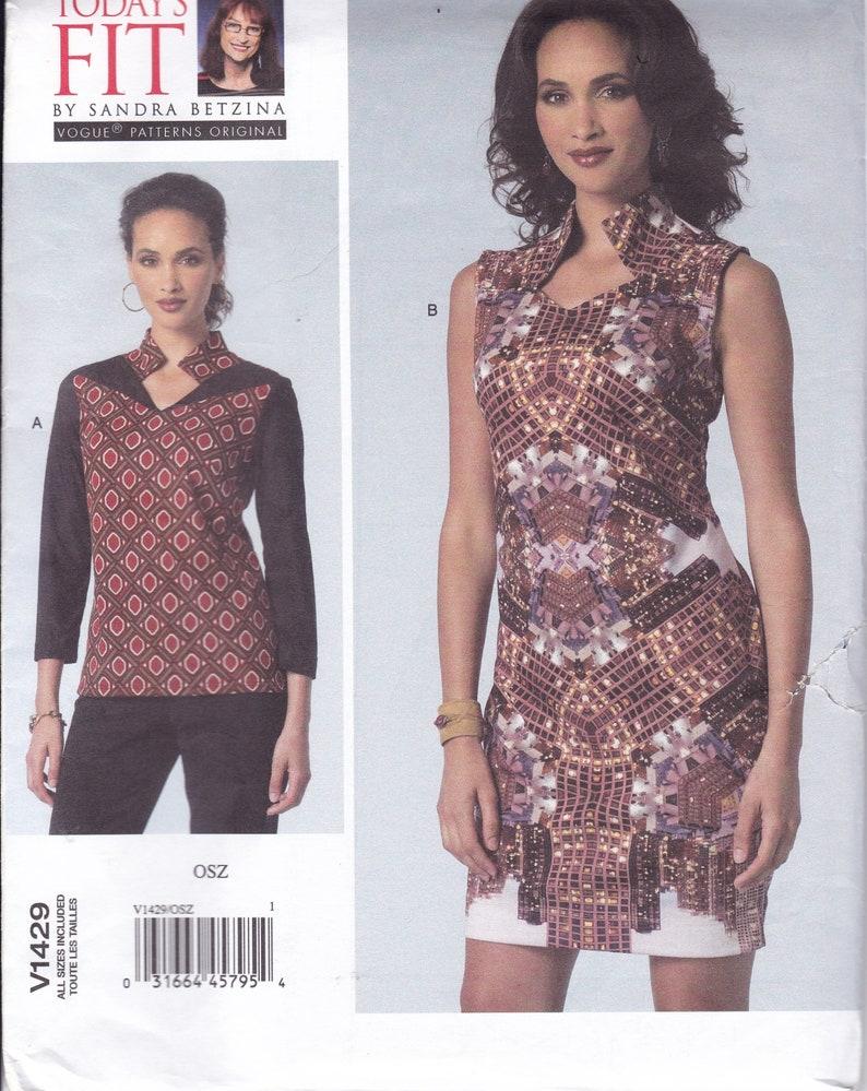 Sewing Pattern Vogue 1429 Sandra Betzina Designer Funky Top image 0