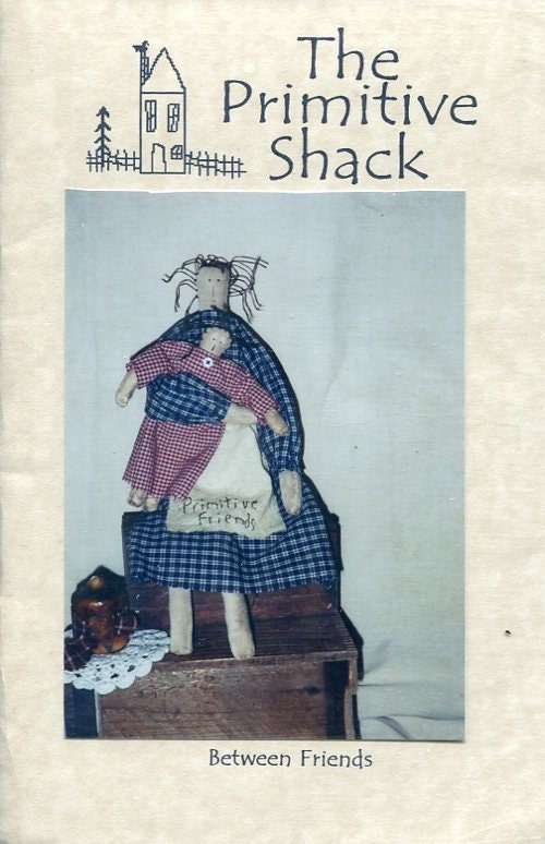 FREE US SHIP Primitive Shack Folk Art Doll Between Friends Mother ...