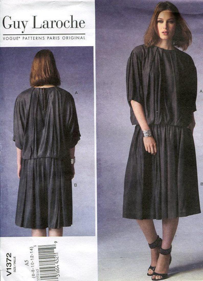 Sewing Pattern Vogue 1372 Designer Guy Laroche Loose Fitting image 0