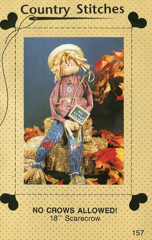FREE US SHIP Country Stitches No Crows Allowed Scarecrow Doll Craft ...