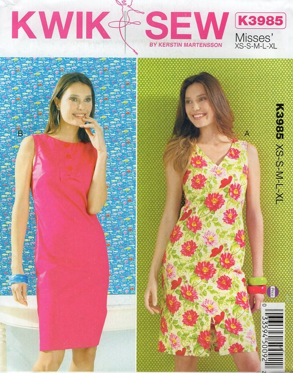 Free Us Ship Sewing Pattern Kwik Sew 3985 Misses Classic V Etsy