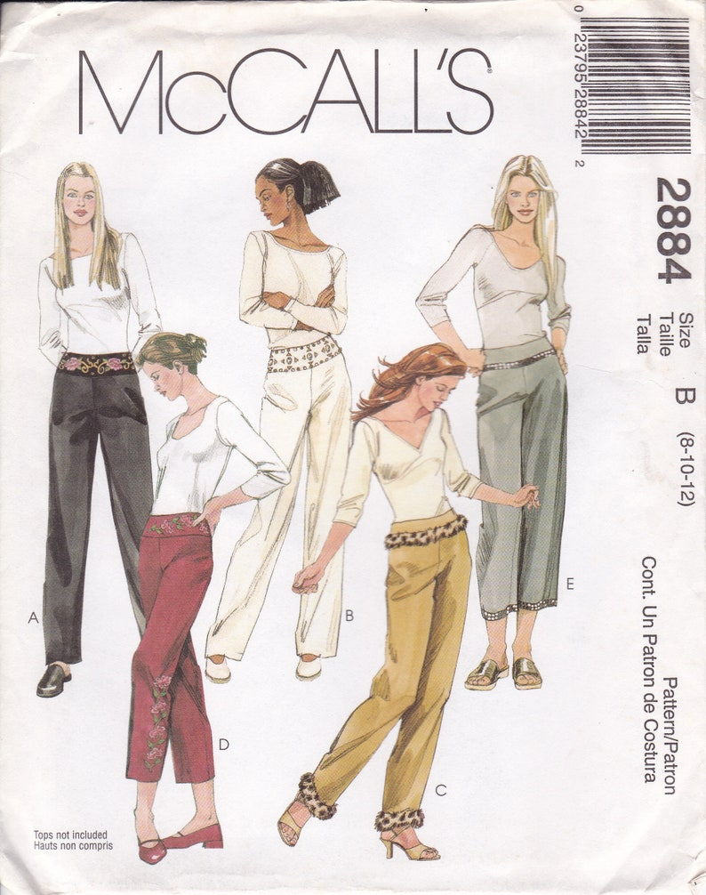 Sewing Pattern McCalls 2677 Fitted Pants Slacks Trim waist image 0