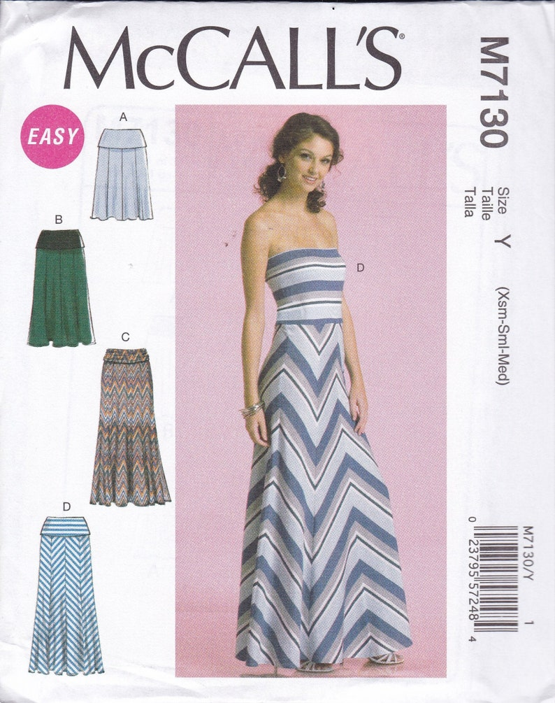 Sewing Pattern McCall's 7130  Banded Skirt or Strapless image 0