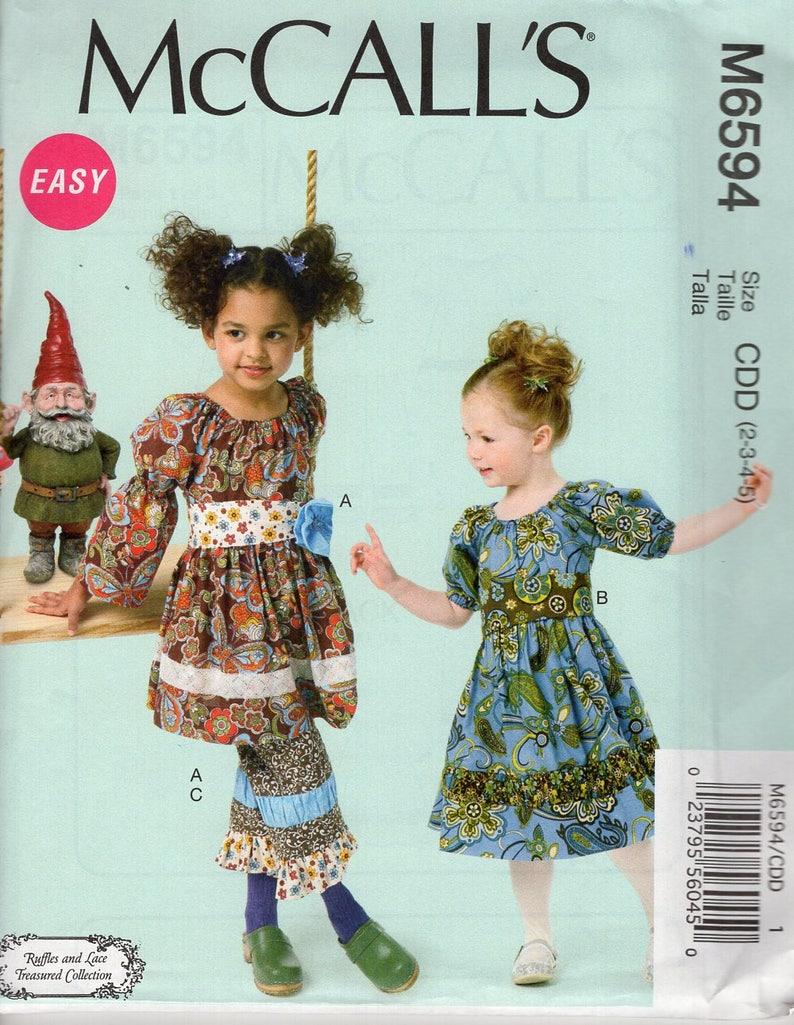 Sewing Pattern McCall's 6594  Lace Girl's Boho image 0