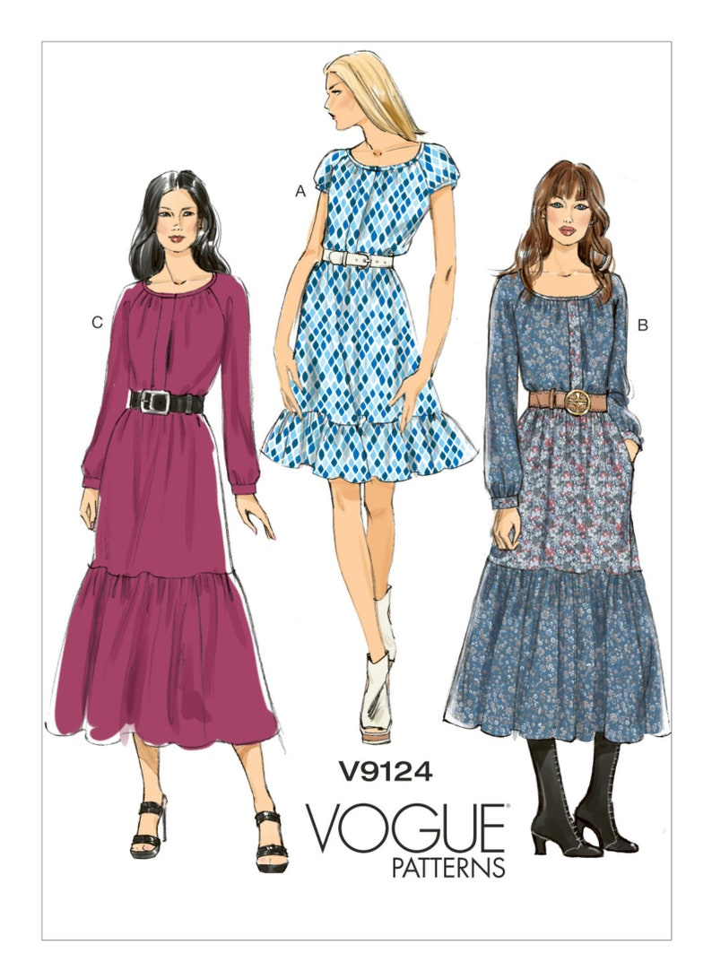 Sewing Pattern to make a Tiered Ruffle Dress Boho Vogue image 0