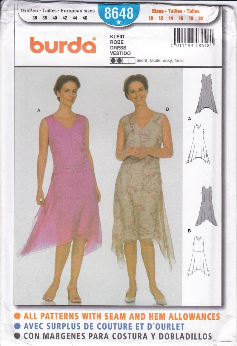 Sewing Pattern Burda 8648 Misses Women Size 10 12 14 16 18 20 image 0