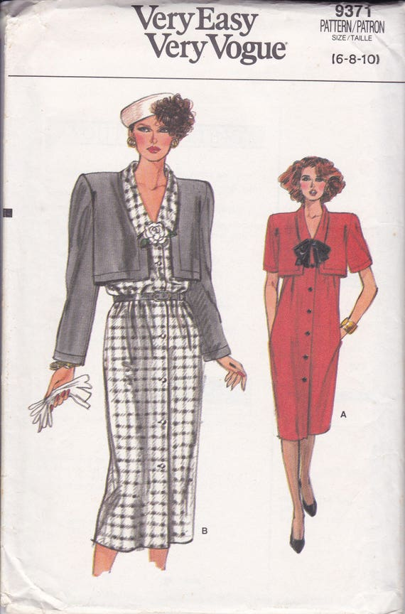Frei uns Schiff Nähen Muster Vogue 9371 Vintage 90er Jahre   Etsy