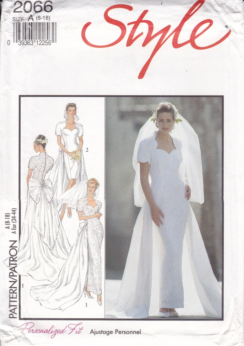 Sewing Pattern to make 1990s Style 2066 Wedding Bridesmaid Bow image 0