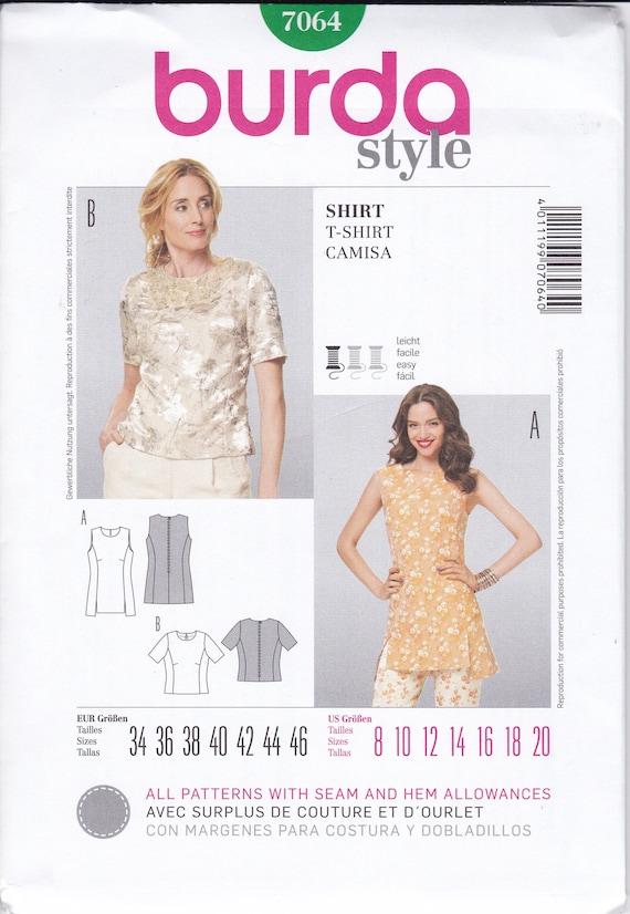 FREE US SHIP Burda 7064 Sewing Pattern Blouse Shirt Princess | Etsy
