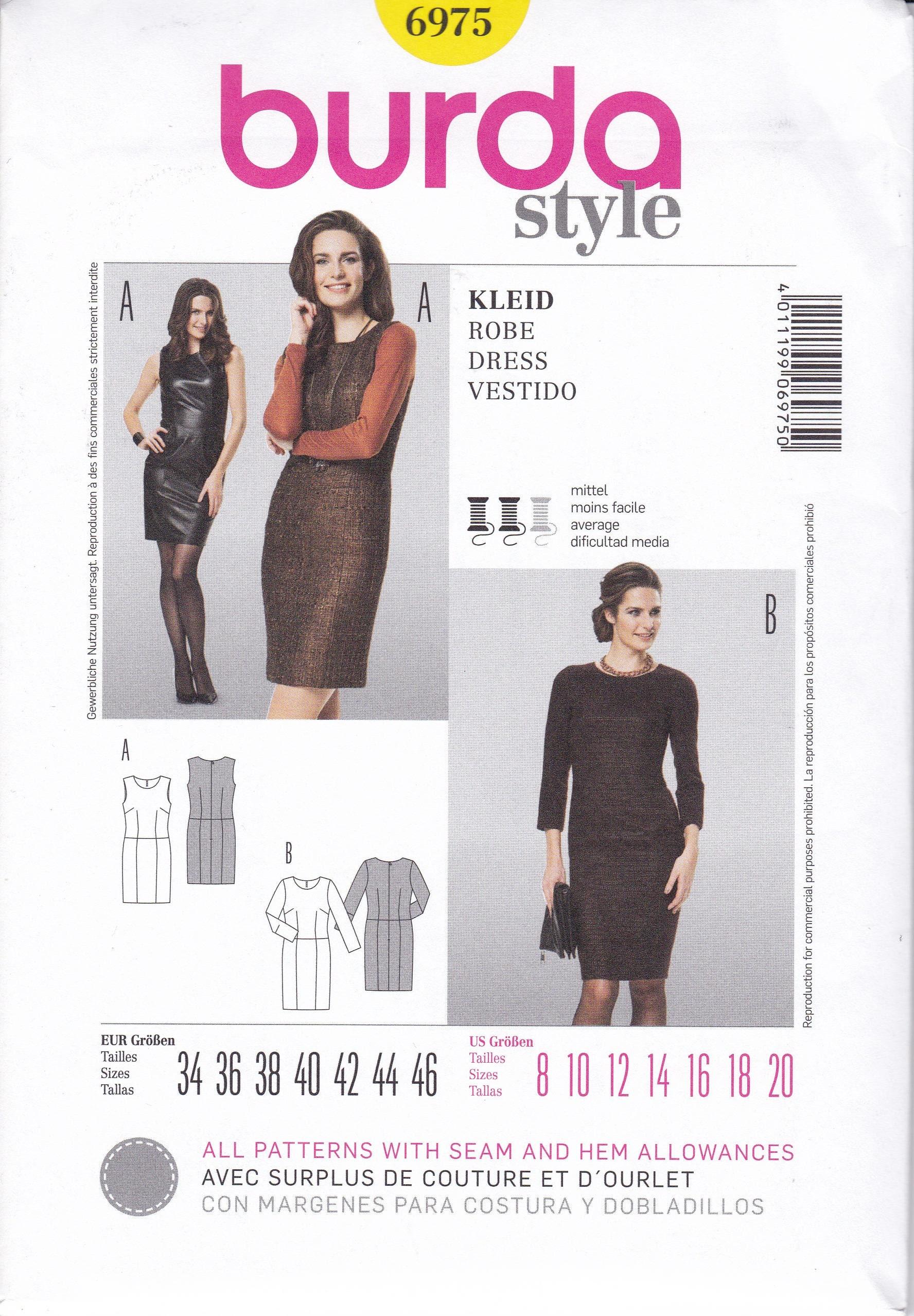 burda 7125 Misses/' Blouse 8 to 20   Sewing Pattern