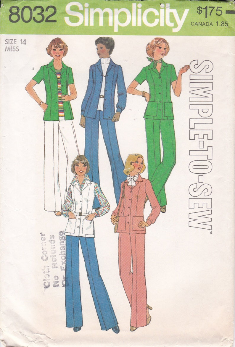 Vintage Sewing Pattern Simplicity 8032 Retro 1970's image 0