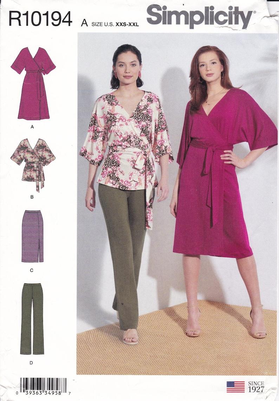 Sewing Pattern to make a Dress Top Pants Wrap Dress  image 0