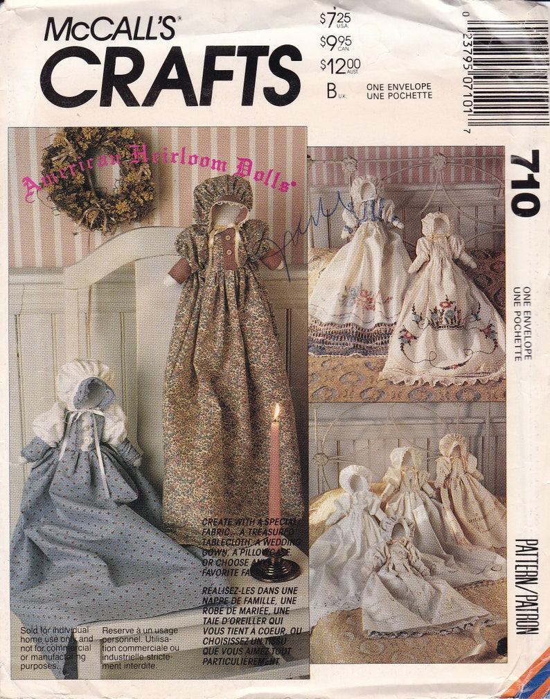Sewing Pattern to make Heirloom Dolls Bed Dolls from bed image 0
