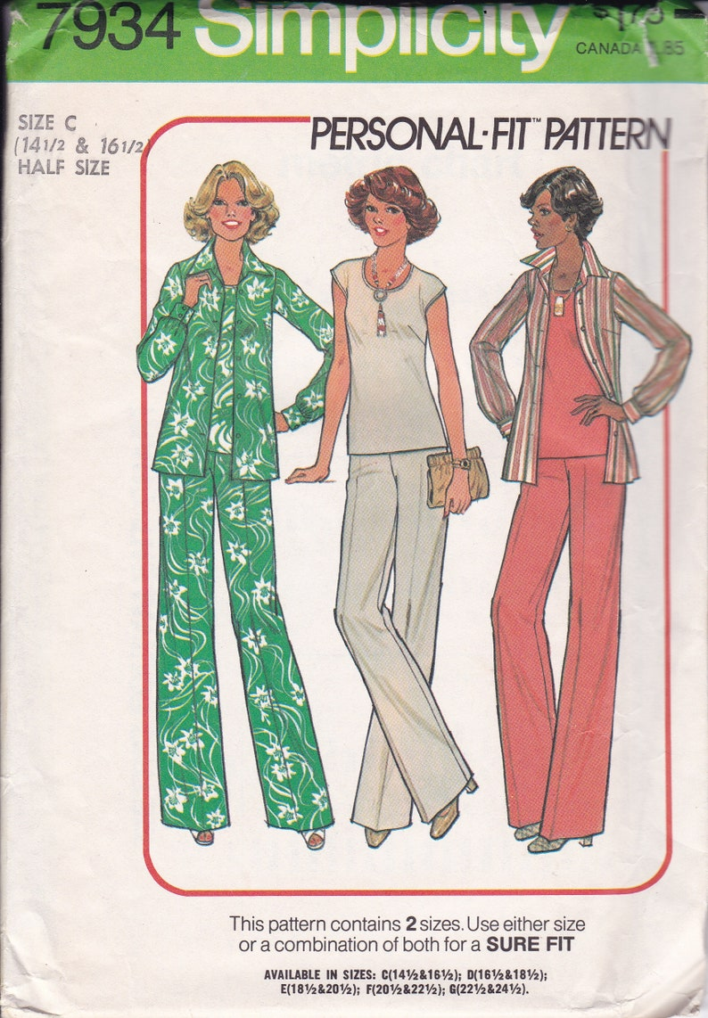 Sewing Pattern Simplicity 7934 Vintage Retro 1970's image 0