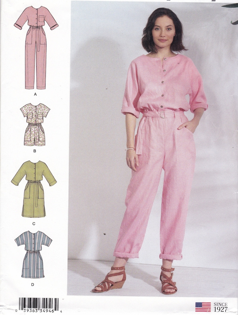 Sewing Pattern to make a Jumpsuit Romper dress Simplicity image 0