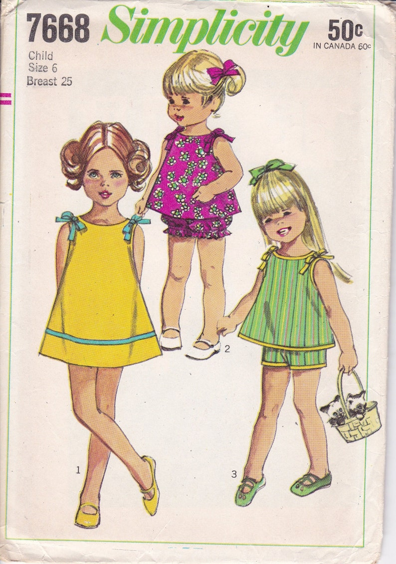 Sewing Pattern Vintage Retro 1960's 60's Simplicity image 0