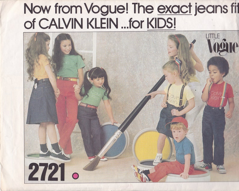 Vogue Sewing Pattern for Kids Boy or Girl Calvin Klein Jeans image 0