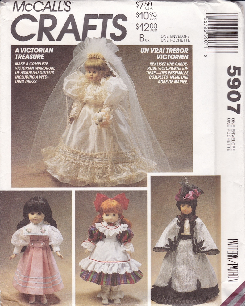 Sewing Pattern McCalls 5907 Retro 1990s 90's  Victorian image 0