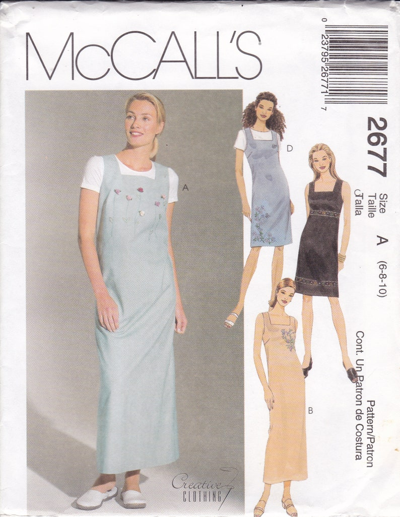 Sewing Pattern McCalls 2677 Creative Clothing Jumper Dress image 0