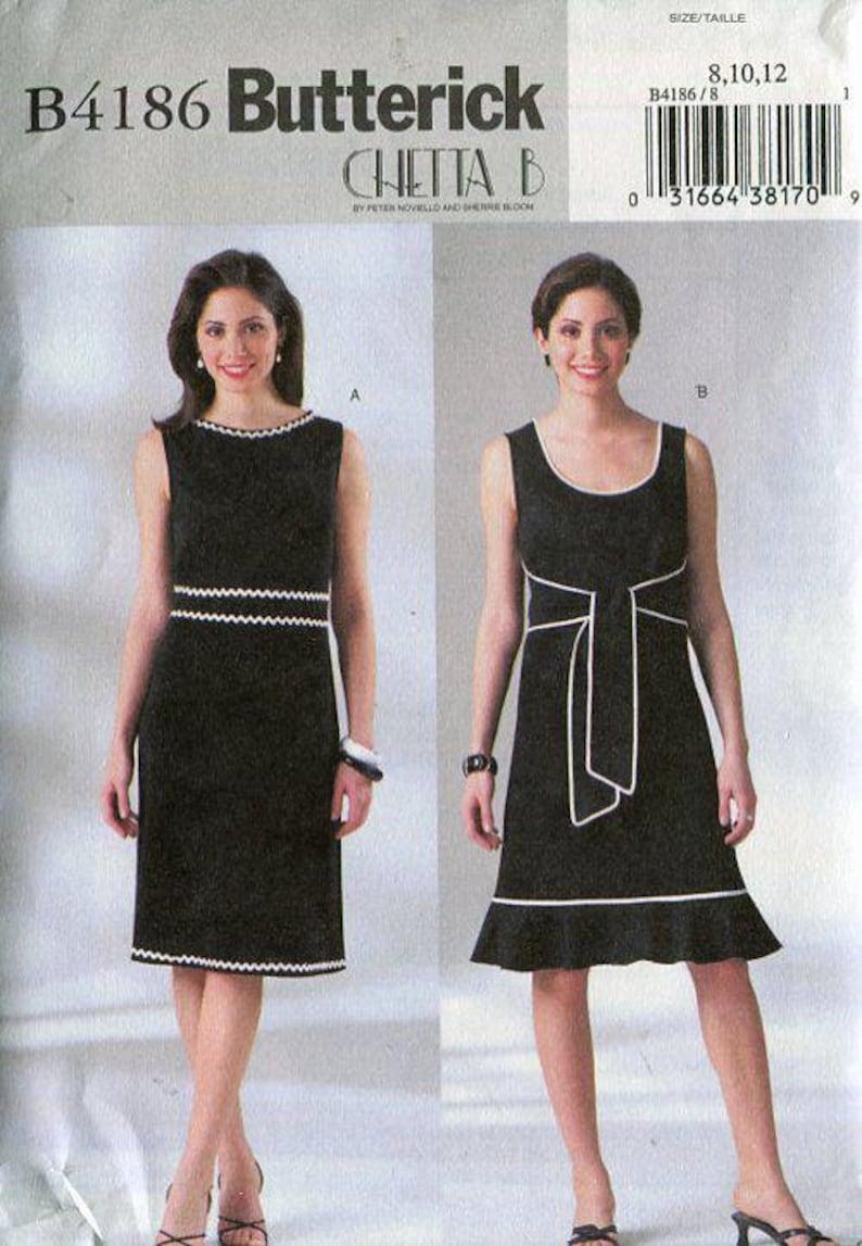 New Sewing Pattern Butterick 4186 Chetta B Back & Over Wrap image 0