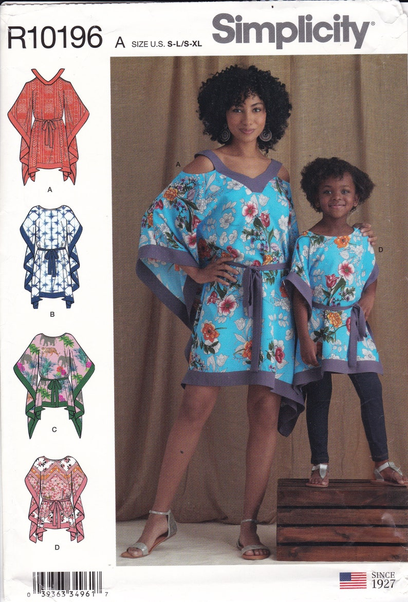 Sewing Pattern to Make a Mother Daughter Matching Caftan Top image 0