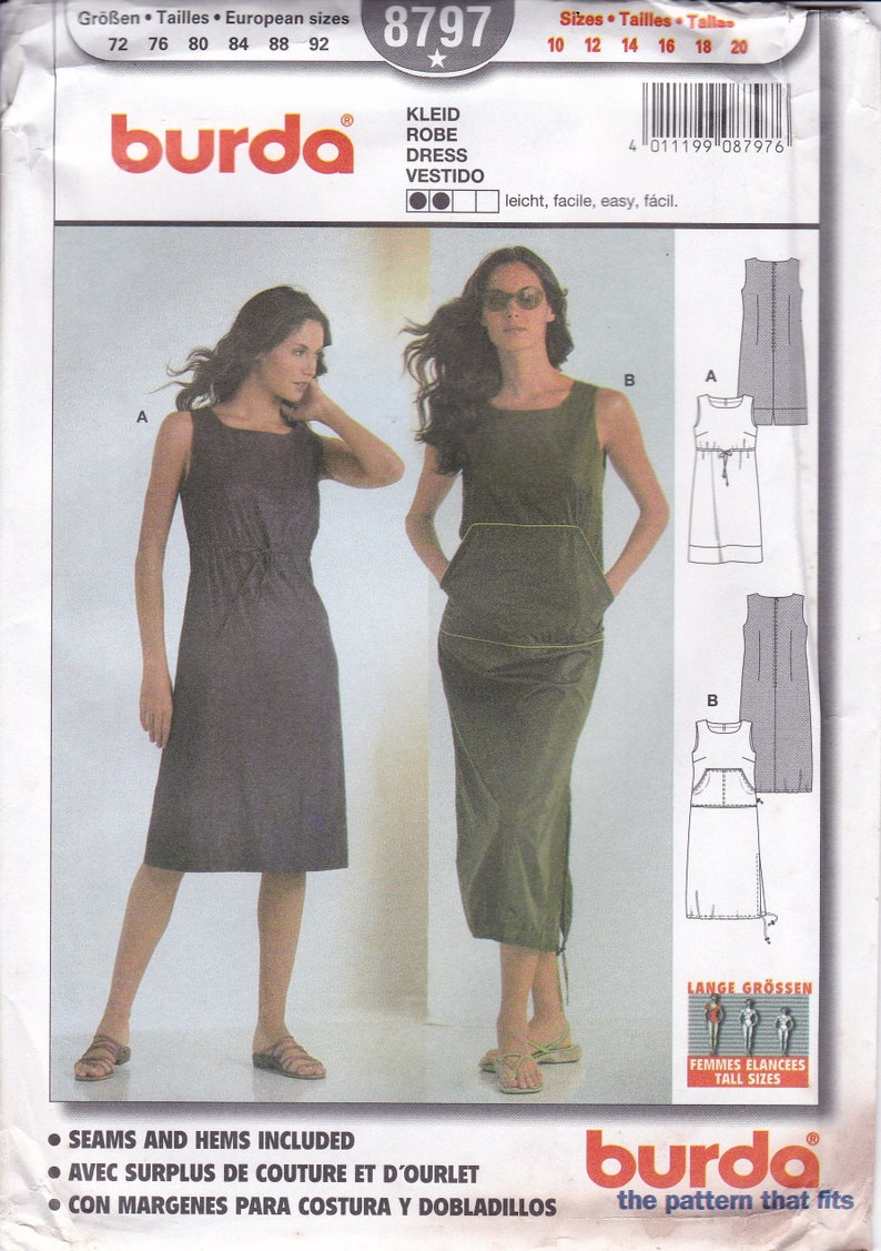 Sewing Pattern Burda 8797 Miss Size 10 12 14 16 18 20 Front image 0