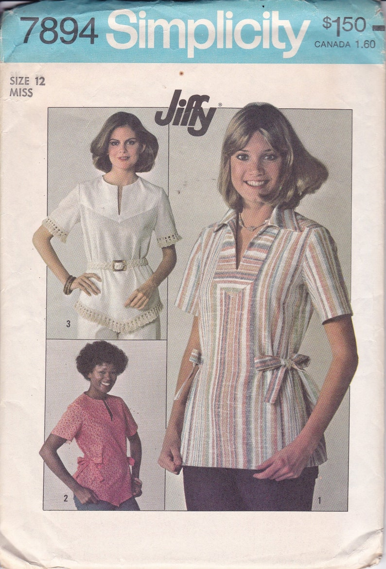 Sewing Pattern Simplicity 7894 Vintage Retro 1970's image 0