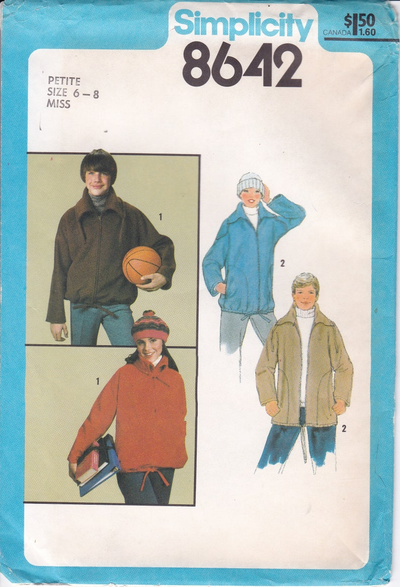 Vintage Sewing Pattern for Womans Mens Zipper Jacket image 0
