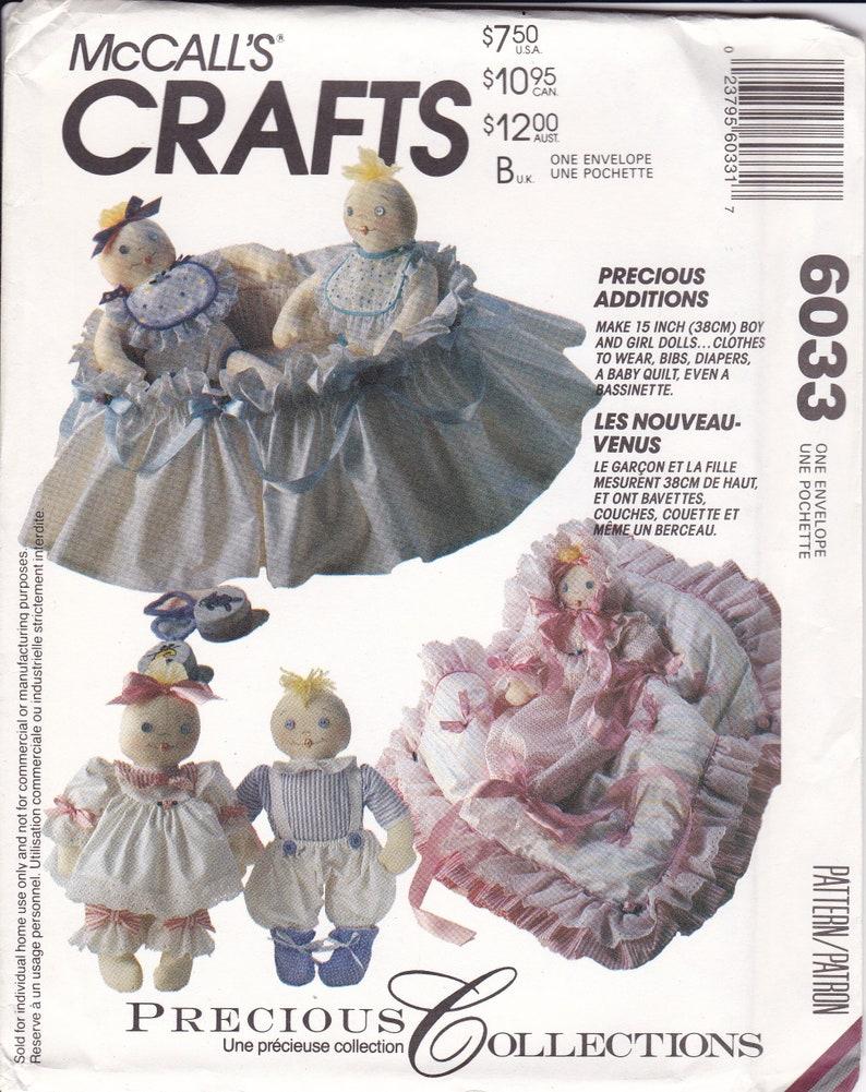 Sewing Pattern McCalls 6033 Retro 1990s 90's Precious image 0