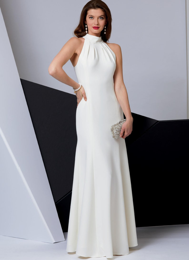 Sewing Pattern to make Inset Arm Cocktail Dress Evening Gown image 0