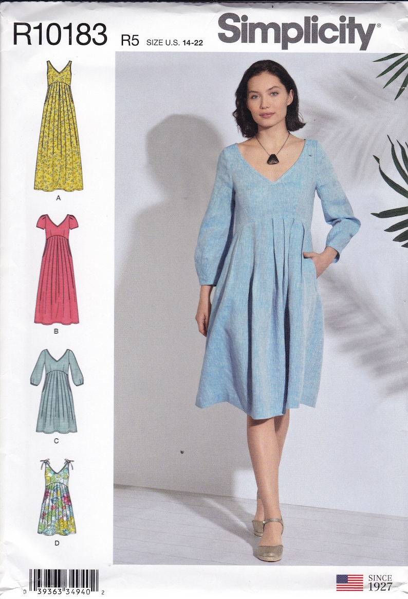 Sewing Pattern for Misses Dress  Day or Maxi Length Ties at image 0