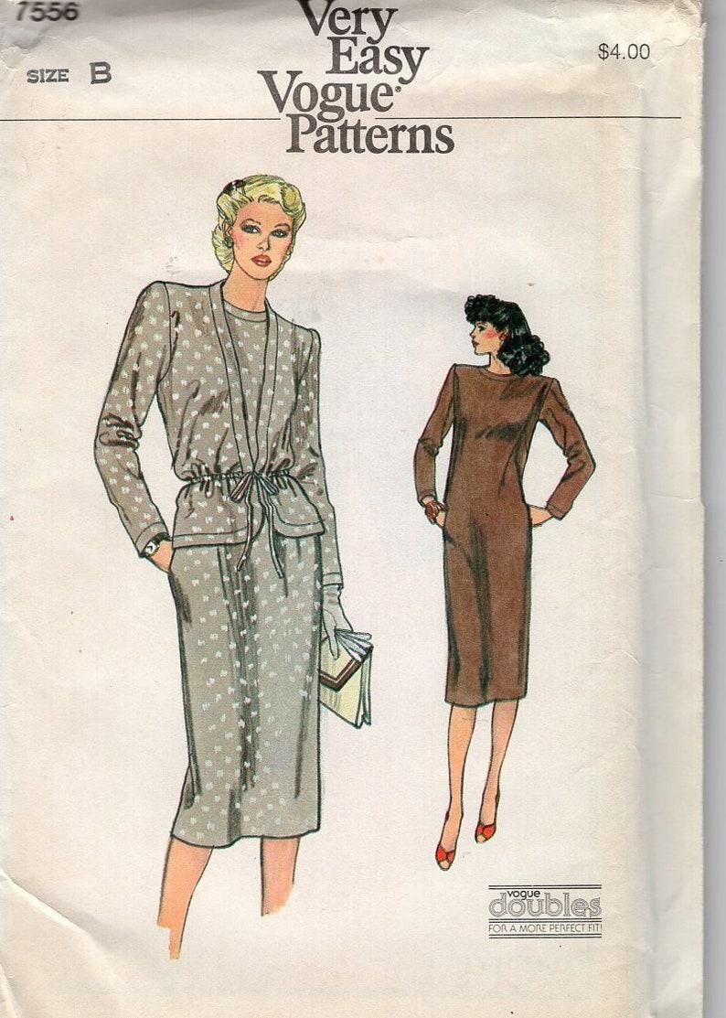 Sewing Pattern Free Us Ship  Vogue 7556  Vintage Retro 1970s image 0