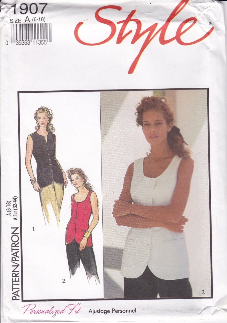 Vintage Sewing Pattern Style 1907 for Retro 1990s 90's image 0