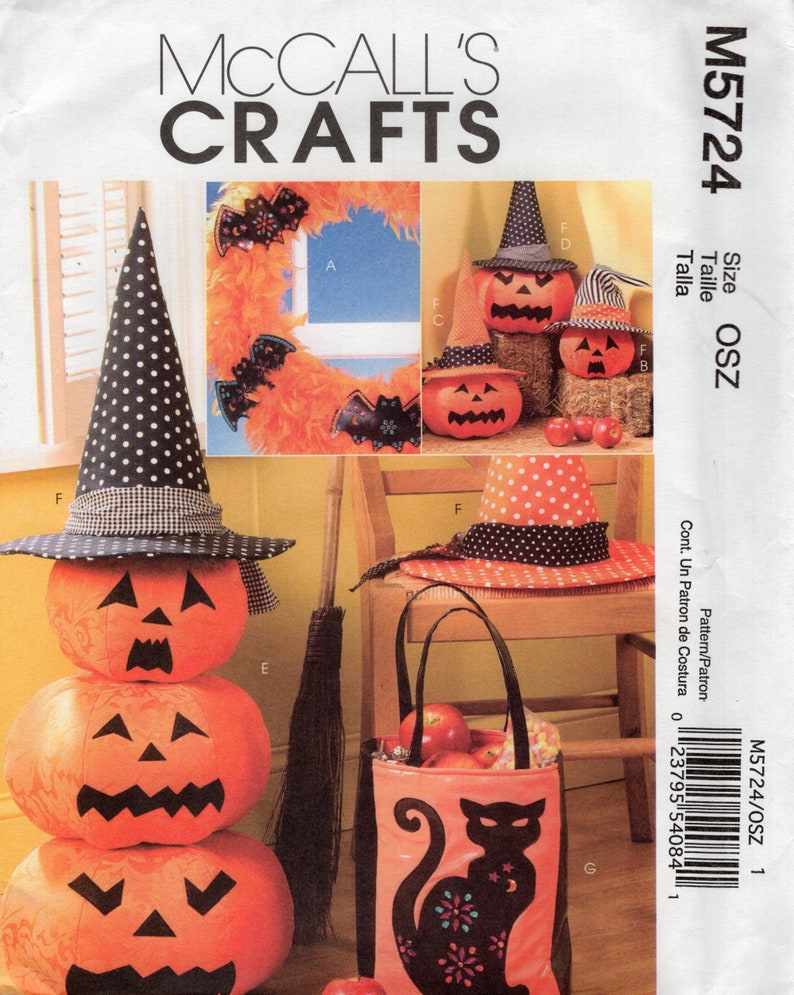 Sewing Pattern McCalls 5724 Halloween Decorations Pumpkins image 0