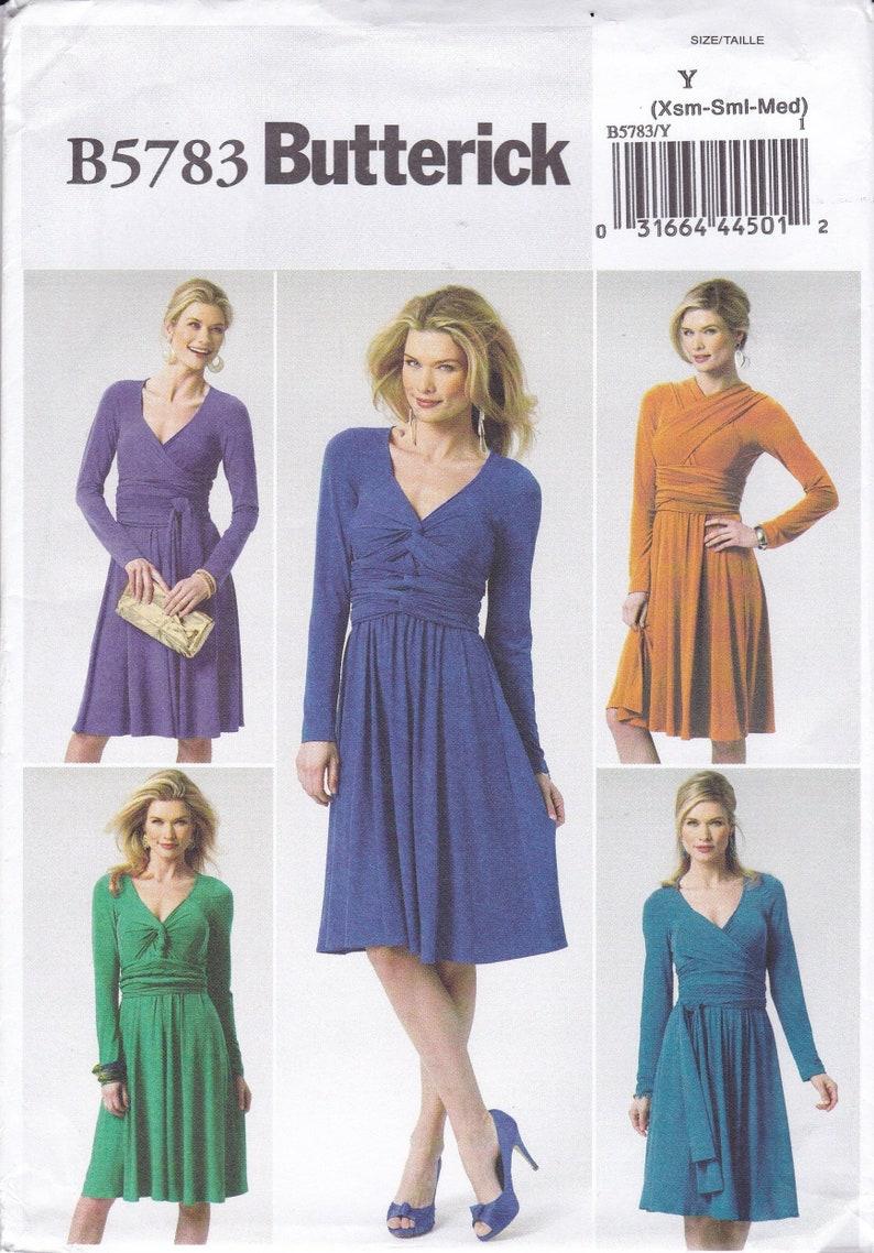 Sewing Pattern Butterick 5783 Dress Pullover Sash Wrap Bias image 0