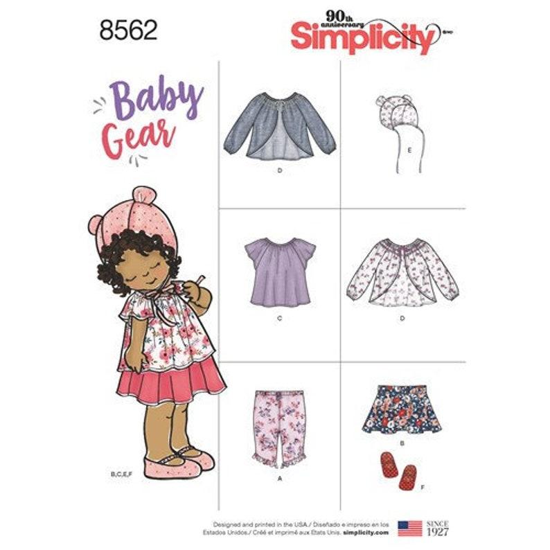 Sewing Pattern Simplicity 8562 Baby Gear Bear Ear Hat Bonnet image 0