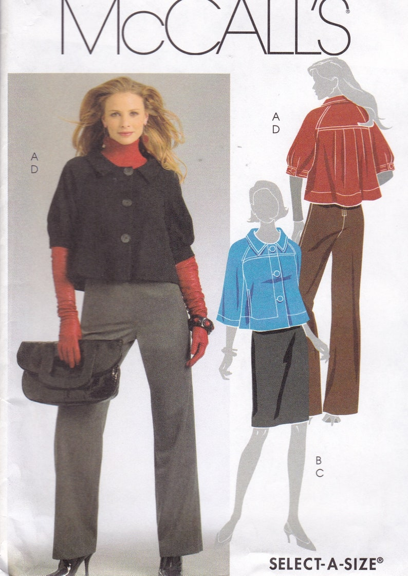 Sewing Pattern McCalls 5715 Jacket Middy Cropped Flared uncut image 0
