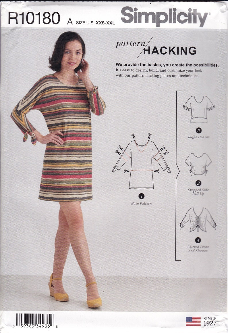 UNCUT Sewing Pattern For Design Hacking Top Dress Ruched image 0