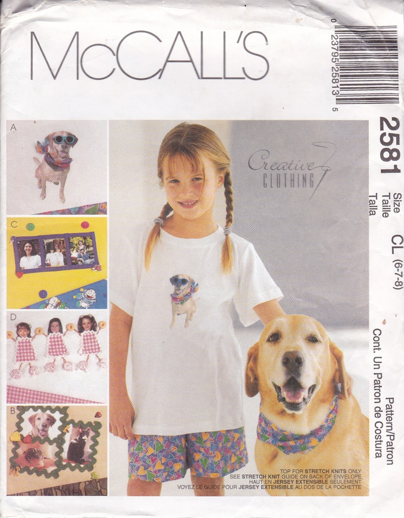McCalls 2581 Sewing Pattern for Kids Top Shorts Creative image 0