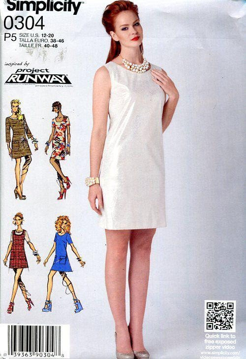 Free Us Ship Project Runway Sewing Pattern Mod Dress Out Of Print