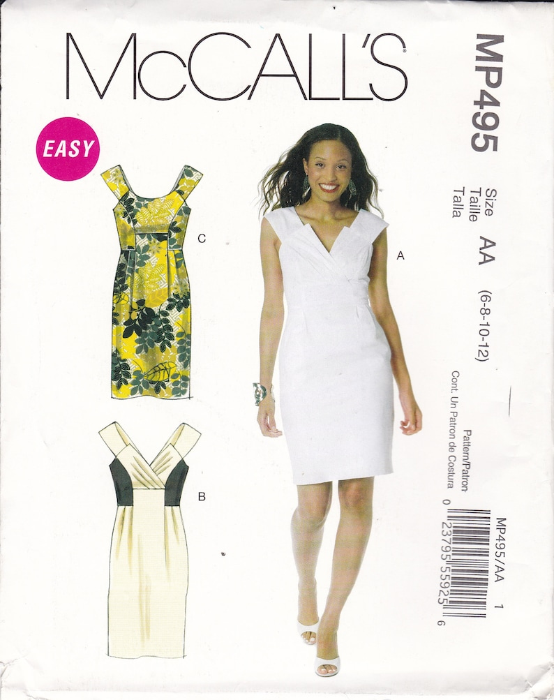 Sewing Pattern to make a Misses Dress with side seam pockets image 0