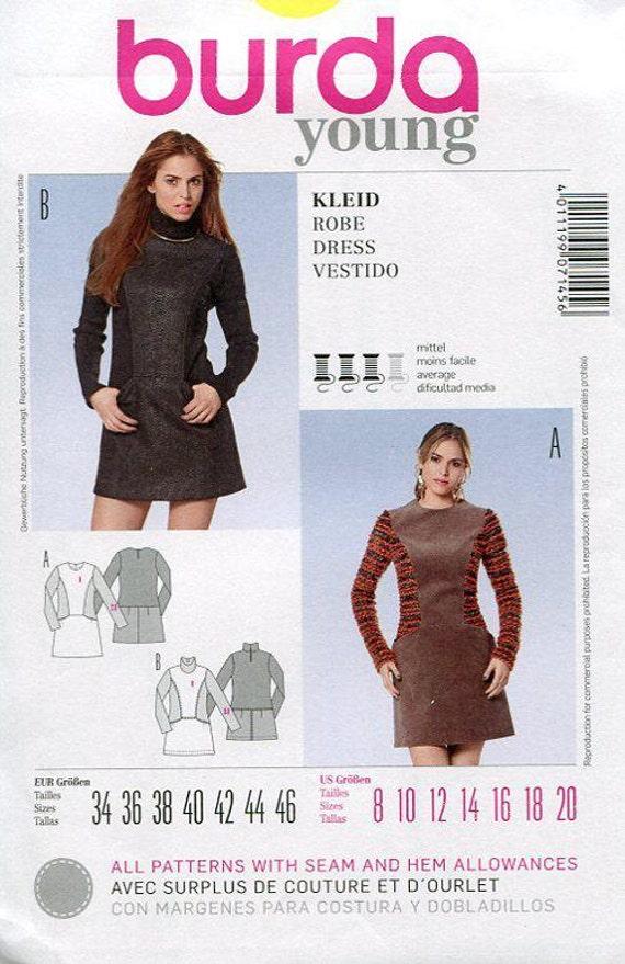 KOSTENLOSE US-Schiff Burda 7145 Einschub Mod Kleid Mini | Etsy